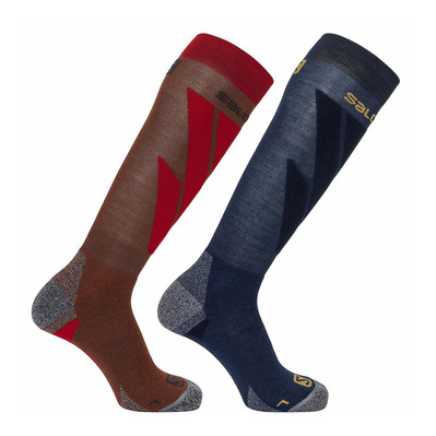 SALOMON - Socks S/ACCESS 2-PACK MADDER/DARKDE Unisexe MADDER/DARKDE