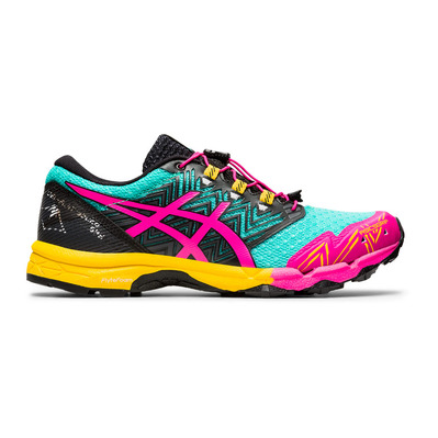 ASICS - FUJITRABUCO SKY - Chaussures trail Femme sea glass/pink glo