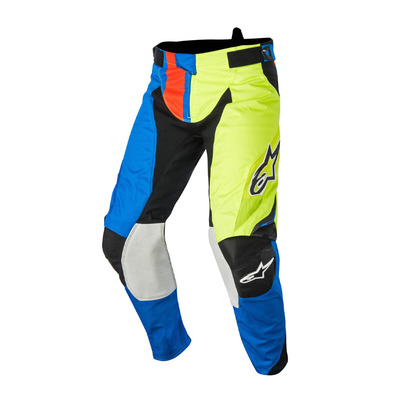 ALPINESTARS - TECHSTAR FACTORY - Pantaloni blue/yellow/red