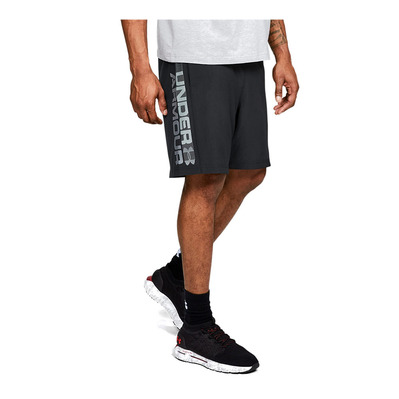UNDER ARMOUR - WOVEN WORDMARK - Short hombre black/zinc gray