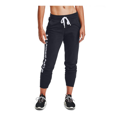 UNDER ARMOUR - Rival Fleece Metallic Jogger-BLK Femme Black/White