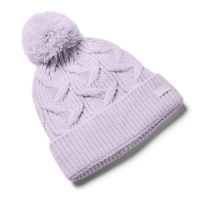 UNDER ARMOUR - UA Around Town Pom Beanie-PPL Femme Crystal Lilac/Crystal Lilac/Crystal Lilac