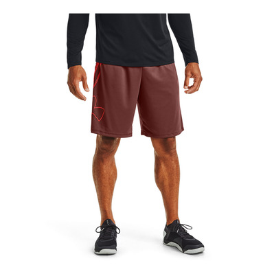 UNDER ARMOUR - TECH LOGO - Short hombre cinna red/beta