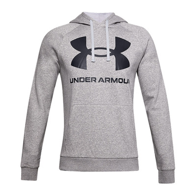 UNDER ARMOUR - RIVAL FLEECE BIG LOGO - Sweat Homme grey