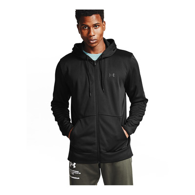 UNDER ARMOUR - UA Armour Fleece FZ Hoodie-BLK Homme Black/Black