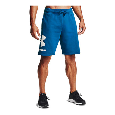 UNDER ARMOUR - RIVAL FLEECE BIG LOGO - Short hombre graphite blue/onyx white