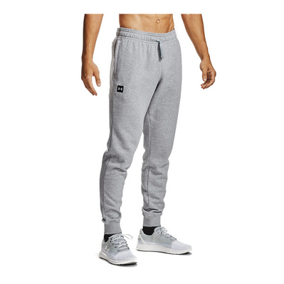UNDER ARMOUR - UA Rival Fleece Joggers-GRY Homme Mod Gray Light Heather/Onyx White