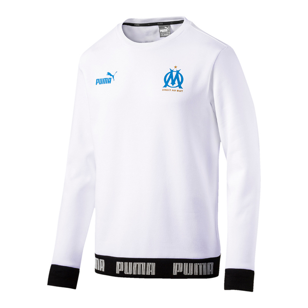 FOOTBALL Puma OM FTBL CULTUR - Sweatshirt - Men's - puma white ...