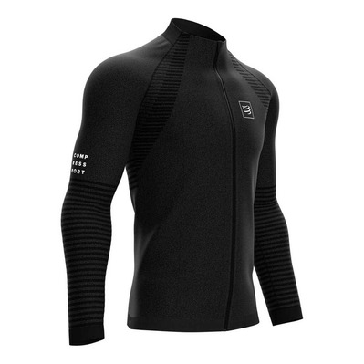 COMPRESSPORT - SEAMLESS ZIP - Sudadera black