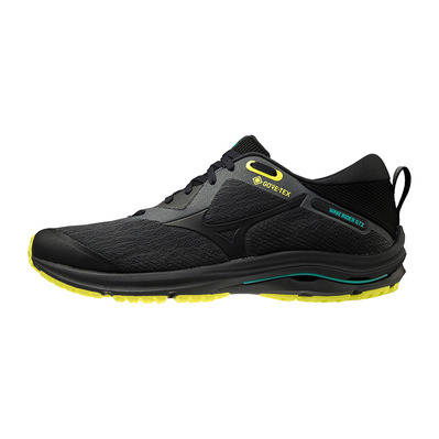 MIZUNO - WAVE RIDER GTX 2 - Chaussures running Homme dark shadow/black/yellow