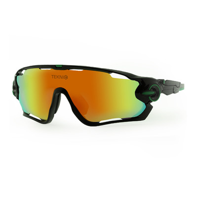 FLUOR - SPORT - Gafas de sol black/green/red mirror