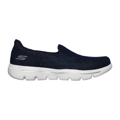 SKECHERS - GO WALK EVOLUTION ULTRA-BELIE - Shoes - Women's - navy textile/white trim