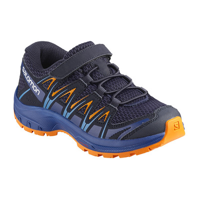 SALOMON - XA PRO 3D K - Hiking Shoes - Junior - medieval blue/mazarine blue/tangelo