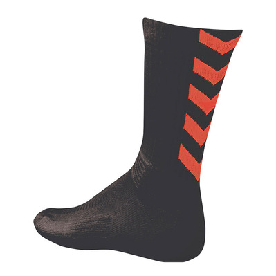 HUMMEL - AUTHENTIC INDOOR - Chaussettes noir/orange