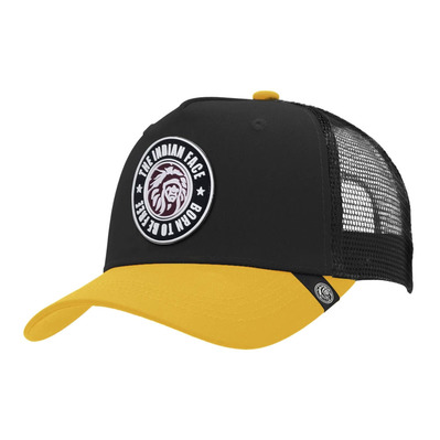 THE INDIAN FACE - BORN TO BE FREE - Gorra black/yellow