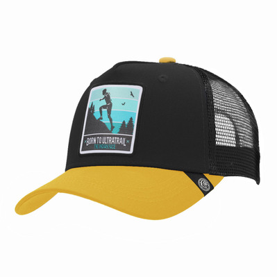 THE INDIAN FACE - BORN TO ULTRATRAIL - Gorra black/yellow