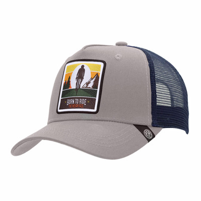 THE INDIAN FACE - BORN TO RIDE - Gorra grey/blue