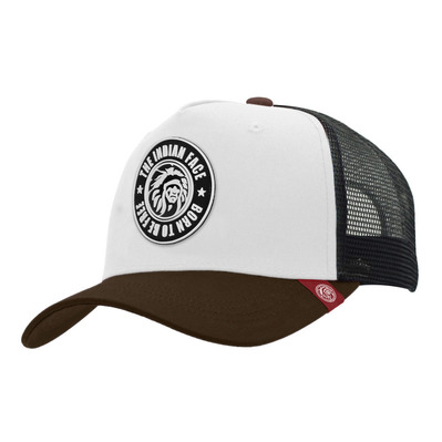 THE INDIAN FACE - BORN TO BE FREE - Gorra white/black/brown
