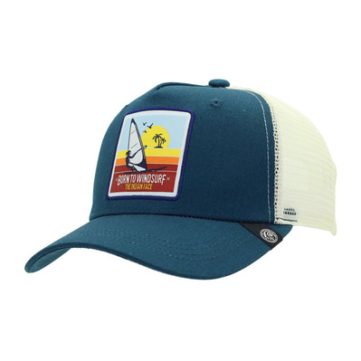 THE INDIAN FACE - BORN TO WINDSURF - Cap - blue/white