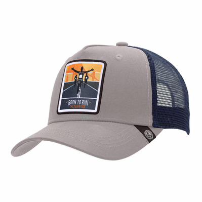 THE INDIAN FACE - BORN TO RUN - Cap - grey/blue