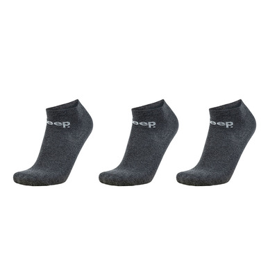 JEEP - Outfitter SNEAKER - Socks x3 - anthracite marl/grey