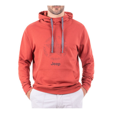 JEEP - Outfitter STAR - Sweat Homme firebrick/dark grey