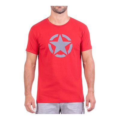 JEEP - STAR - Tee-shirt Homme red/medium grey