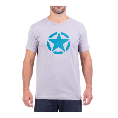 JEEP - STAR - Tee-shirt Homme medium grey/teal blue