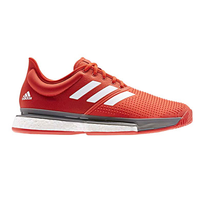 ADIDAS - SOLECOURT M - Tennis Shoes - Men's - actred/ftwwht/grefou