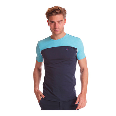 CAMBERABERO - 44001 - Tee-shirt Homme turquoise blue atol