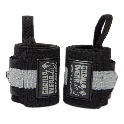 GORILLA WEAR - WRIST WRAPS - Muñequeras black/grey