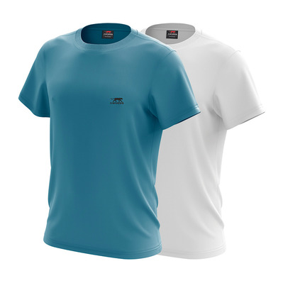 AIRNESS - TWICE - T-Shirts x2 Men's - turquoise/white
