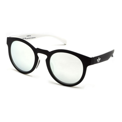 ADIDAS - AOR009 BA7036 - Sunglasses - black/white/silver mirror