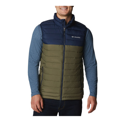 COLUMBIA - POWDER LITE - Winterjacke - Männer - stone green/collegiate navy