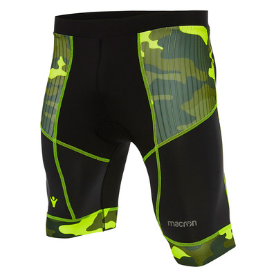 MACRON - RUN CHINOOK SBI FERDY BIKER - Cycling Shorts - Men's - blk/camo/nyel