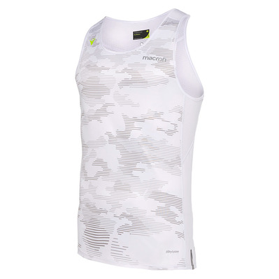 MACRON - RUN CHINOOK SBJ SCOTTY - Tank Top - Men's - printed wht trace