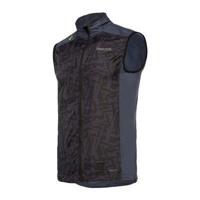 MACRON - RUN CHINOOK SBI MITCH - Sleeveless Jacket - Men's - carbon printed black