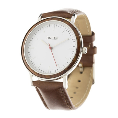BREEF - MADISON SA - Watch - silver/brown