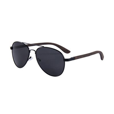 FELER - AVIATOR - Polarised Sunglasses - black/black smoke