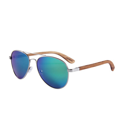 FELER - AVIATOR - Polarised Sunglasses - silver/green