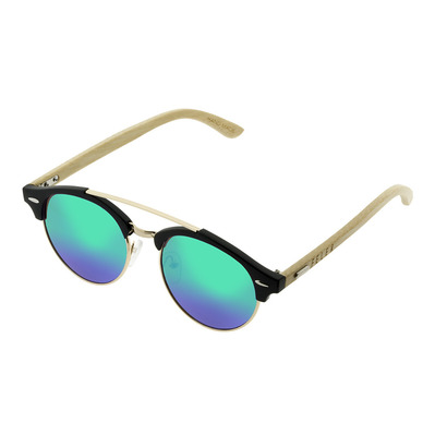 FELER - CLUBROUND HIBRID - Sunglasses - black/green mirror