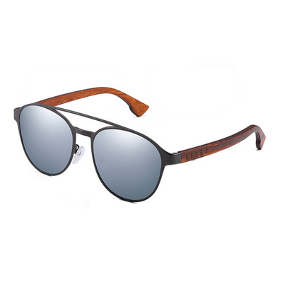 FELER - DOUBLE AVIATOR - Polarised Sunglasses - silver stainless/silver