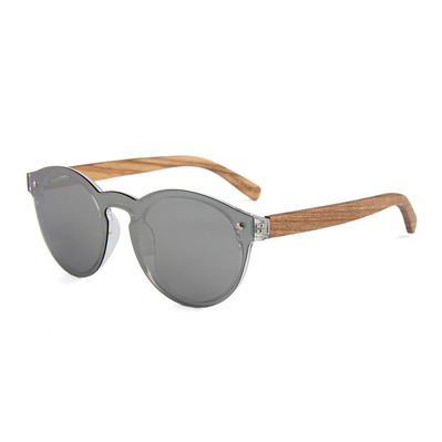 FELER - FOREST 2 FULL SCREEN - Polarised Sunglasses - zebrawood/silver