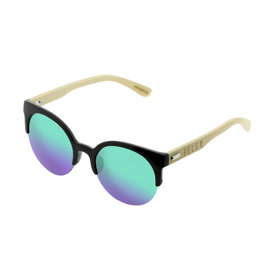 FELER - FOREST AIR HIBRID - Sunglasses - black/green mirror