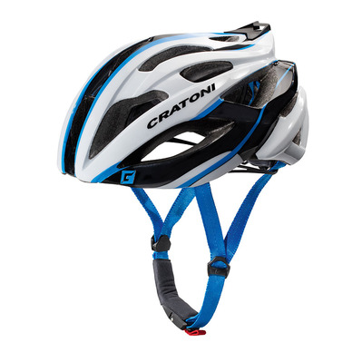 CRATONI - C-BOLT 2017 - Casco carretera white/black/blue glossy