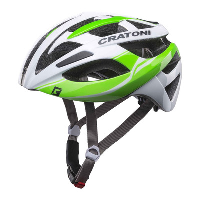 CRATONI - C-BREEZE - Casco carretera white/green glossy