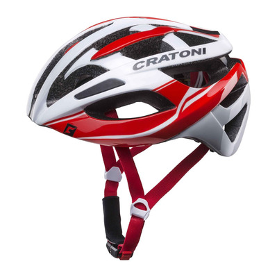 CRATONI - C-BREEZE - Casco carretera white/red glossy
