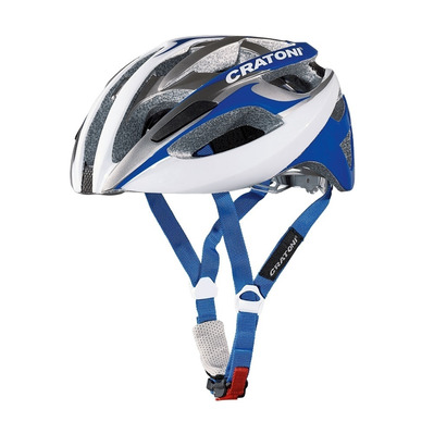 CRATONI - C-BREEZE 2016 - Casco carretera white/silver/blue glossy