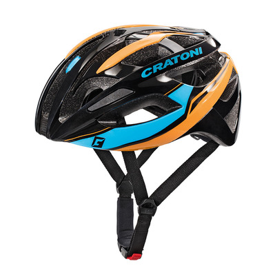 CRATONI - C-BREEZE 2017 - Casco carretera black/blue/orange glossy