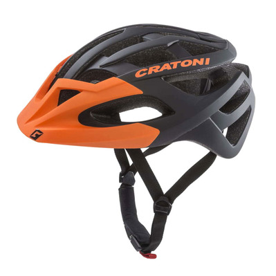 CRATONI - C-HAWK - Casco BTT black/orange rubber